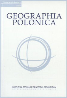 Geographia Polonica Vol. 88 No. 3 (2015), Contents