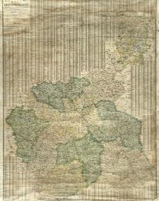 Mapa Królestwa Polskiego na podstawie najnowszych statystyczno-geograficznych podreczników opracowana, zawiera miasta gubernialne, powiatowe, osady, wsie, linje kolejowe, trakty i drogi z podaniem odległosci w wiorstach.