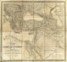 Carte de l'Empire Ottoman comprenant les possessions de la Porte en Europe, en Asie, et en Afrique avec les parties limitrophes de l'Arabie, de la Perse, de la Russie et de l'Empire d'Autriche