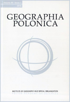 Geographia Polonica Vol. 89 No. 1 (2016), From Editors
