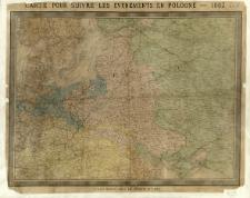 Carte pour suivre les evènements en Pologne - 1863