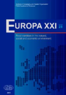 Europa XXI 28 (2015), Contents
