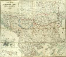 General-Karte der Europäischen Türkei und der Republik Montenegro