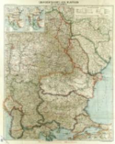 Übersichtskarte von Rumänien und Nachbargebieten