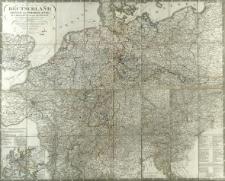 Deutschland, Königr. der Niederlande, Kgr. Belgien und die Schweiz : nebst Theilen der angränzenden Länder, nach Adolf Stieler's grosser Karte in 25 Bl.