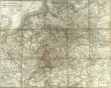Post und Eisenbahn - Karte von Deutschland und den anliegenden Lændern