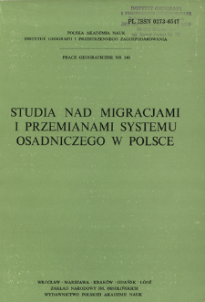 Studia nad migracjami i przemianami systemu osadniczego w Polsce : opracowanie zbiorowe = Issledovaniâ migracii i izmenenij sistemy rasseleniâ v Pol'še = Studies on migrations and settlement system of Poland
