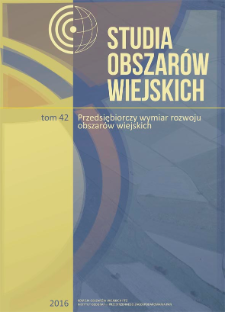 Aktywność gospodarcza na migracyjnych i niemigracyjnych obszarach wiejskich województwa opolskiego = Economic activity among inhabitants of migratory and non-migratory rural areas of the Opolskie Voivodship