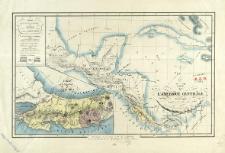 Carte de L'Amerique Centrale