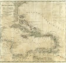 Karte von Mittel-America oder Westindien