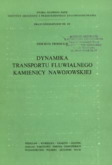 Dynamika transportu fluwialnego Kamienicy Nawojowskiej = Dinamika flûvial'nogo transporta v reke Kamenica Navojovska = Dynamics of fluvial transport in the Kamienica Nawojowska