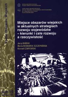 Miejsce obszarów wiejskich w aktualnych strategiach rozwoju województw - kierunki i cele rozwoju a rzeczywistość