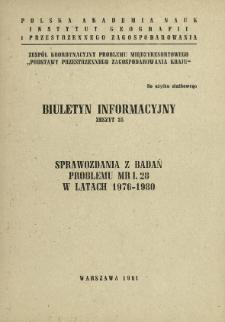 Sprawozdania z badań problemu MR I. 28 w latach 1976-1980.
