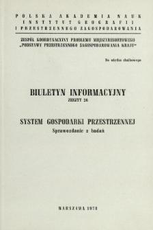 System gospodarki przestrzennej : sprawozdanie z badań.