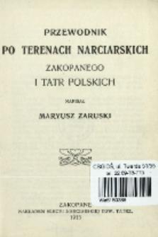 Przewodnik po terenach narciarskich Zakopanego i Tatr Polskich
