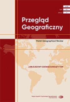 Przegląd Geograficzny T. 90 z. 3 (2018), Spis treści