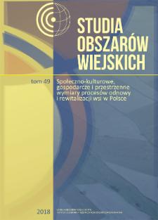 Wybrane aspekty teoretyczne identyfikacji i waloryzacji układów ruralistycznych w Polsce