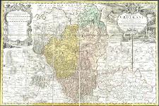 Principatus Silesiae Grotkani exactissima tabula geographica exhibens terram nissensem simul ac circulos Grotkau, ottmuchau et Ziegenhals