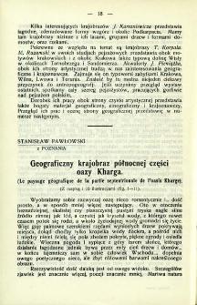Geograficzny krajobraz północnej części oazy Kharga