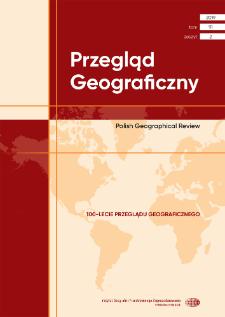 Przegląd Geograficzny T. 91 z. 2 (2019), Spis treści