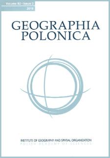 Geographia Polonica Vol. 92 No. 3 (2019), Contents