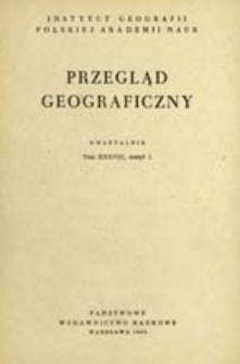 Przegląd Geograficzny T. 38 z. 1 (1966)