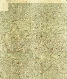 Kaiserlich Deutsches Generalgouvernement Warschau mit dem angrenzenden K.u.K. Millitärgeneralgouvernement in Polen