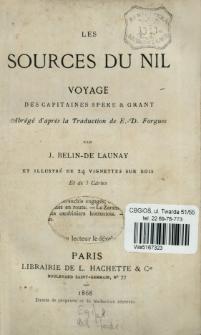 Les sources du Nil : voyage des capitaines Speke & Grant