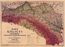 Mapa Galicyi i Bukowiny z Wielkiem Księstwem Krakowskiem