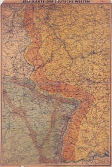 JRO-Karte: Der deutsche Westen : hauptverteidigungsgebiete