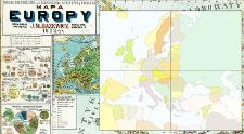 Mapa Europy : wielka szczegółowa ze skorowidzem i statystyką światową