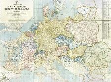 Schematyczna mapa kolei Europy środkowej