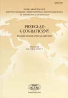 Przegląd Geograficzny T. 82 z. 1 (2010), Spis treści