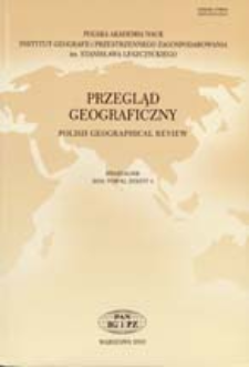 Granica w badaniach geograficznych - definicja i próba klasyfikacji = Border in geographical research studies - definition and an attempts at its classification
