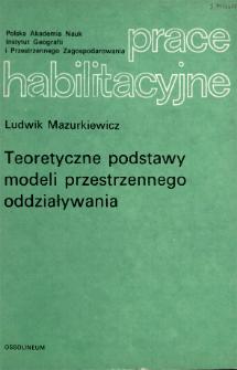 Prace Habilitacyjne - Polska Akademia Nauk. Instytut Geografii i Przestrzennego Zagospodarowania