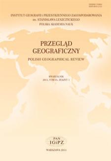 Przegląd Geograficzny T. 85 z. 3 (2013)