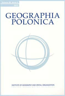 Geographia Polonica Vol. 86 No. 4 (2013)