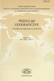 Przegląd Geograficzny T. 81 z. 1 (2009)