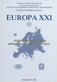 Europa XXI 19 (2009) : European urban system : metropolization and networking