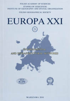 Europa XXI 21 (2010) : Environmental and infrastructural networks