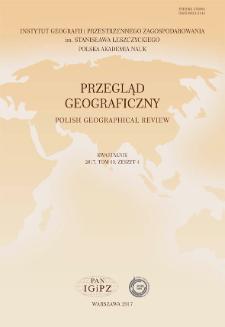 Przegląd Geograficzny T. 89 z. 4 (2017)