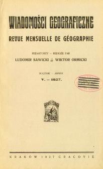 Wiadomości Geograficzne R. 5 (1927)
