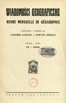 Wiadomości Geograficzne R. 6 (1928)