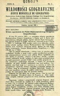 Wiadomości Geograficzne R. 10 (1932)