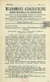 Wiadomości Geograficzne R. 11 (1933)