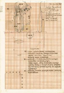 KZG, V 14 A, plan i profil archeologiczny