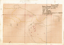 KZG, V 14 A, szkic planu archeologicznego wykopu
