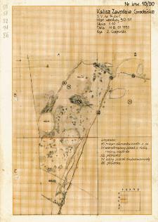 KZG, V 14 C, plan archeologiczny wykopu