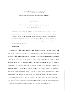 Evolutionary-based method of simulation the CO2 emission permits market