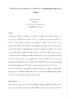 Model handlu pozwoleniami na emisję CO2 z uwzględnieniem wpływu cen zakupu